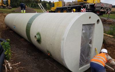 Neuer Trinkwasserbehälter aus GFK-Trinkwasserrohren