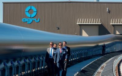 AGRU extrudiert weltweit größtes PEHD-Rohr
