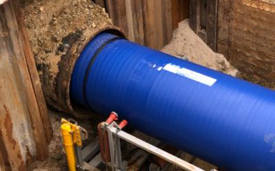 Trinkwasserleitung mittels Relining renoviert