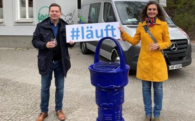 180 Trinkbrunnen sollen bis Mitte Mai in Berlin sprudeln