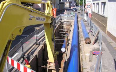 Trinkwasser-Transportachse in Mainz kosteneffizient erneuert